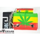 Marijuana Rasta Flag Chain Wallet
