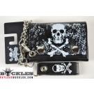 Skull Cross Bone Chain Wallet