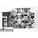 Cross bone Skull Chain Wallet