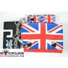 UK British Flag Chain Wallet