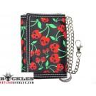 Cherry Skull Chain Wallet