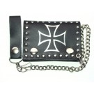 Cross Leather Chain Wallet