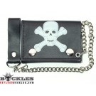Skull Leather Chain Wallet