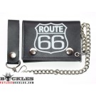 Route 66 Leather Chain Wallet