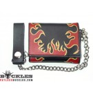 Leather Chain Wallet Flame