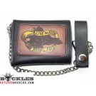 Eagle Leather Chain Wallet