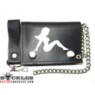 Leather Chain Wallet Trucker Lady