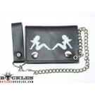 Trucker lady Leather Chain Wallet